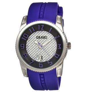 Crayo Men's 'Rugged' Silicone Purple Analog Watch