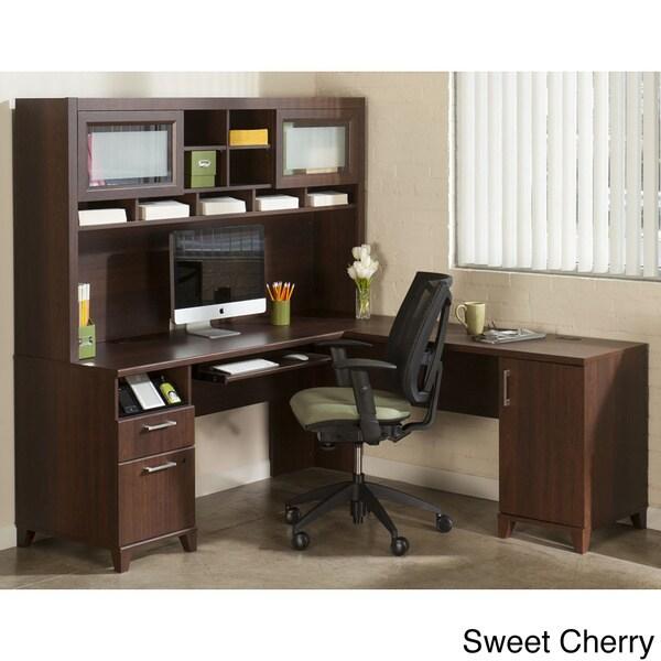 Bush Furniture Achieve Collection L-desk and Hutch
