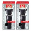 Melitta Ready Set Joe Black Pour-over Travel Mug Coffee Brewer (Set of 2)