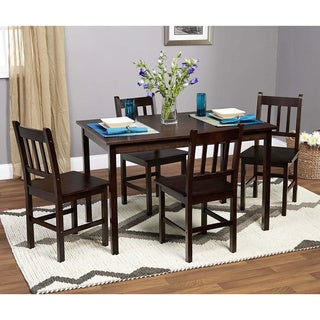 Espresso Bamboo Eco-friendly 5-piece Dining Set