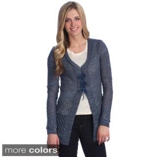 Hadari Women's Patchwork Knit Cardigan