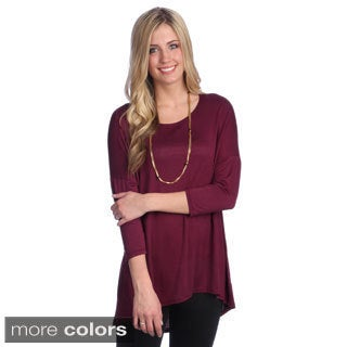 Hadari Women's Scoop Neck Relaxed Top