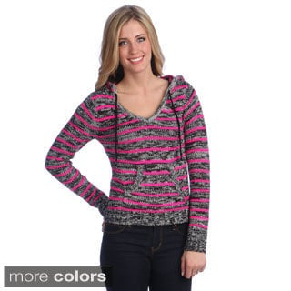 Women's Striped Woven Hoodie