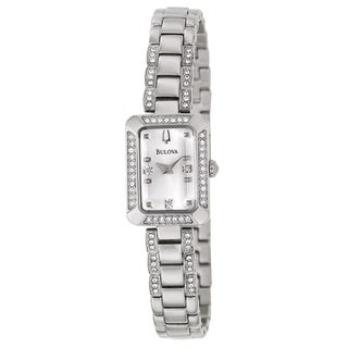 Bulova Women's 'Crystal' Stainless Steel Quartz Watch