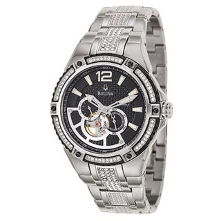 Bulova Men's 'BVA Series' Stainless Steel Military Time Watch