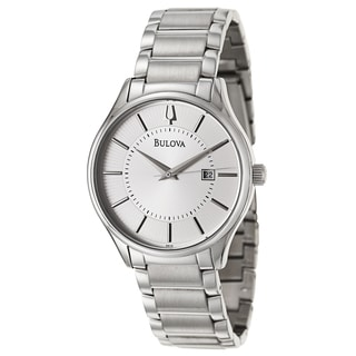 Bulova Men's 'Bracelet' Stainless Steel Japanese Quartz Watch