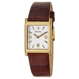 Bulova Women's 97M101 'Dress' Yellow Gold-Plated Stainless Steel Japanese Quartz Watch