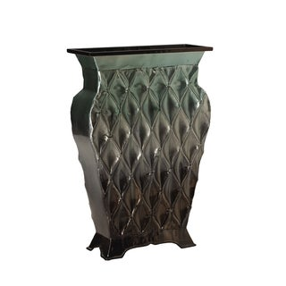 Elements 14-inch Ombre Metal Wave Vase