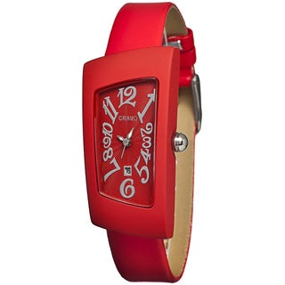 Crayo Women's Angles Red Leather Analog Watch