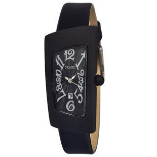 Crayo Women's Angles Black Leather Analog Watch