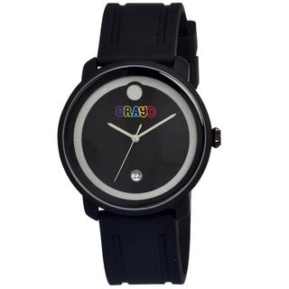 Crayo Men's Fresh Black Rubber Analog Watch