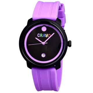 Crayo Fresh Black/ Fuchsia Rubber Analog Watch
