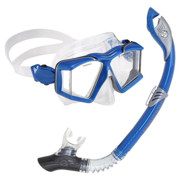 Aqua Lung Sideview Paradise LX Blue Snorkel Set