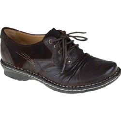 Women's Earth Linden Dark Brown Wilderness Leather
