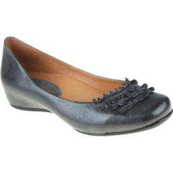 Women's Earthies Valla Dark Grey Silky Leather