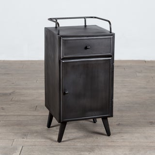 Gerald Black Metal Handmade Cabinet (India)