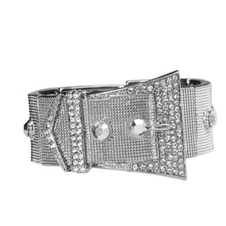 Luxurious Cut PearlPerri Buckle Bangle