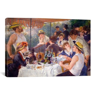 The Luncheon of the Boating Party by Auguste Renoir Canvas Print Wall Art
