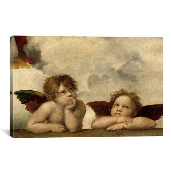 The Two Angels by Raphael Canvas Print Wall Art