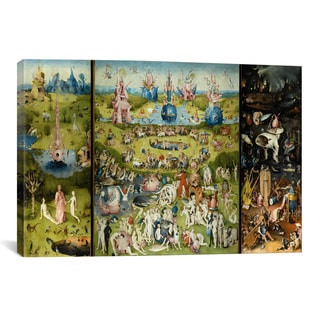 The Garden of Earthly Delights by Hieronymus Bosch Canvas Print Wall Art