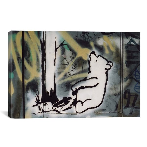 Banksy Pooh Bear Trap Canvas Print Wall Art