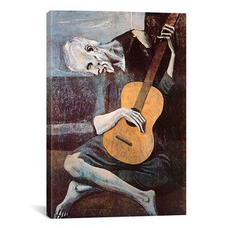 The Old Guitarist By Pablo Picasso Canvas Print Wall Art