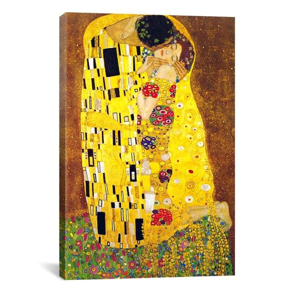 The Kiss By Gustav Klimt Canvas Print Wall Art