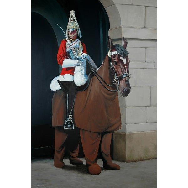 Banksy Pantomime Guard on Horse Canvas Print Wall Art