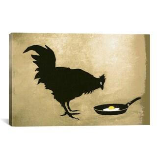 Banksy Chicken & Egg Canvas Print Wall Art
