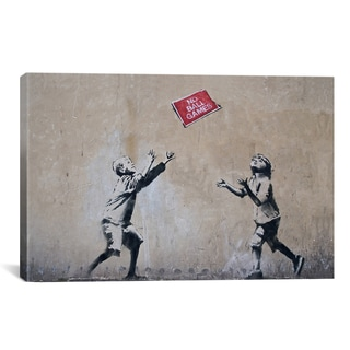 Banksy No Ball Games Canvas Print Wall Art