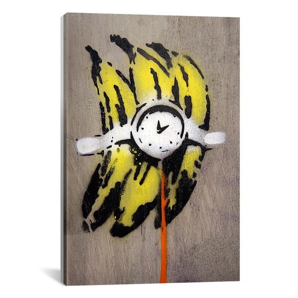 Banksy Banana Bomb Canvas Print Wall Art