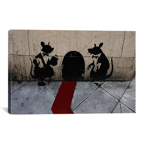 Banksy Bouncer Rats Canvas Print Wall Art