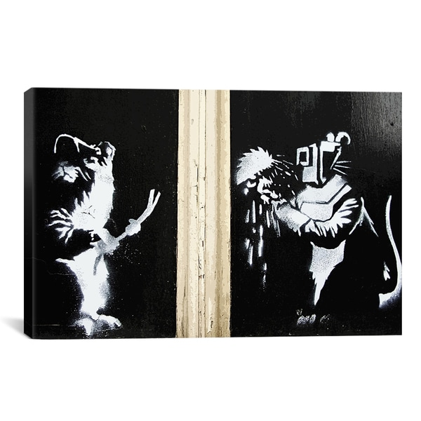 Banksy Welding Rats Canvas Print Wall Art