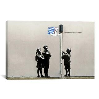 Banksy Tesco Bag Flag Tesco Generation Canvas Print Wall Art