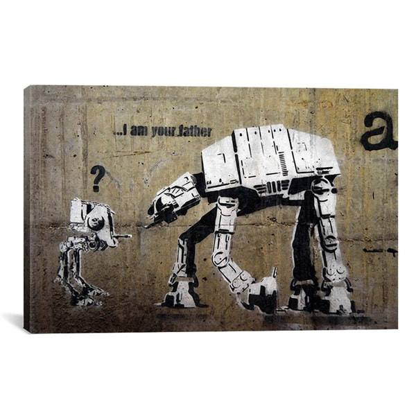 Banksy I Am Your Father Canvas Print Wall Art