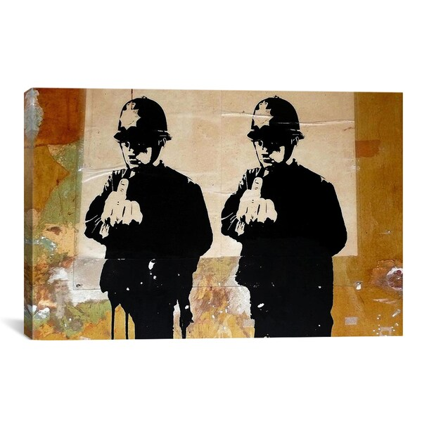 Banksy Rude Coppers Canvas Print Wall Art