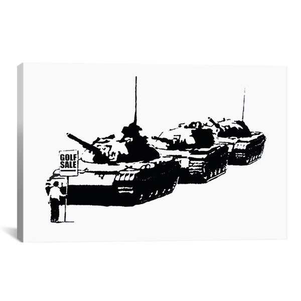 Banksy Golf Sale Canvas Print Wall Art