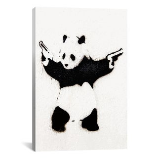 Banksy Panda With Guns Canvas Print Wall Art
