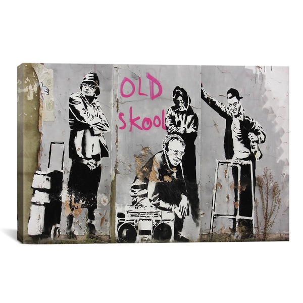 Banksy Old Skool Canvas Print Wall Art