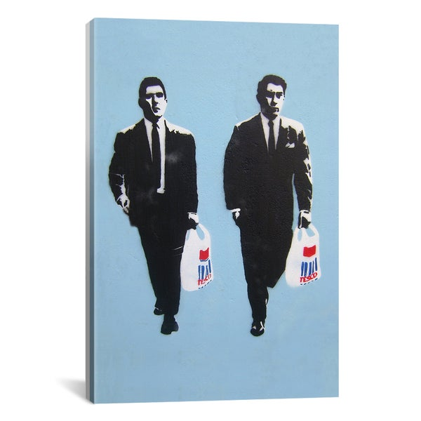 Banksy Tesco Mafia Canvas Print Wall Art