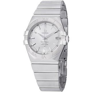 Omega Men's 123.10.35.20.02.001 'Constellation' Silver Dial Stainless Steel Date Watch