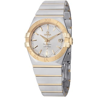 Omega Men's 123.20.35.20.02.002 'Constellation' Silver Dial Two Tone Automatic Watch