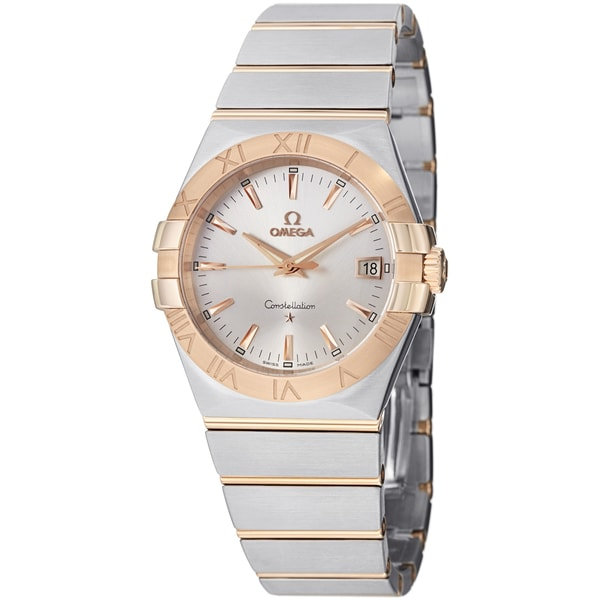 Omega Men's 123.20.35.60.02.001 'Constellation' Silver Dial Two Tone Quartz Steel Watch