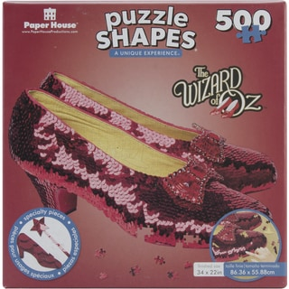 The Wizard of Oz Ruby Slippers Shaped Puzzle 500 Pieces
