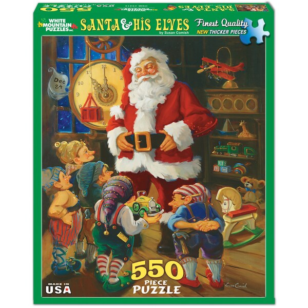 Santa and His Elves Puzzle 550 Pieces