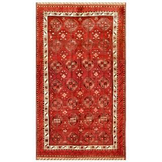 Afghan Hand-knotted Tribal Balouchi Rust/ Ivory Wool Rug (5'1 x 8'11)