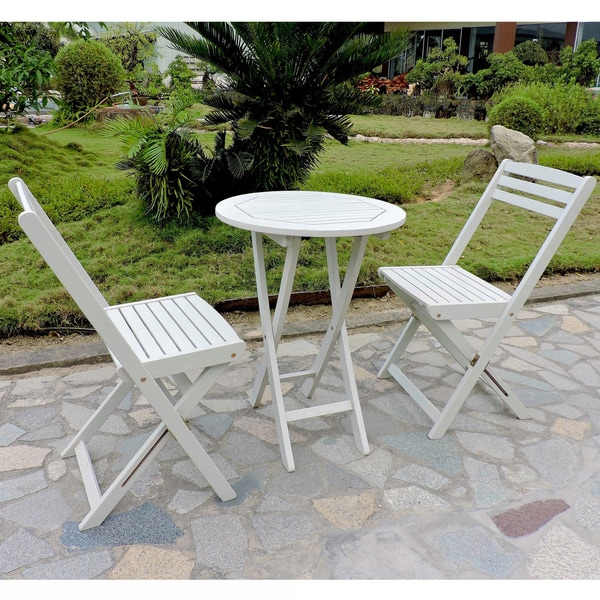 International Caravan Royal Fiji Acacia 3-piece Folding Bistro Set 12399300
