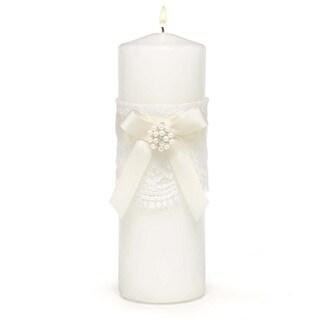 'Splendid Elegnce' White Unity Candle