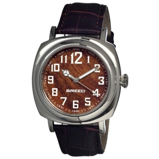 Breed Men's 'Mozart' Brown Leather Analog Watch