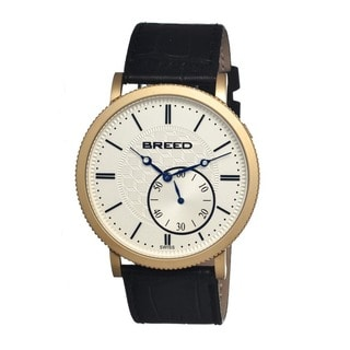 Breed Men's 'Maxwell' Black Leather Automatic Watch